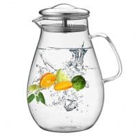 Multi-Use Glass Pitcher to Brew, Infuse & Chill In