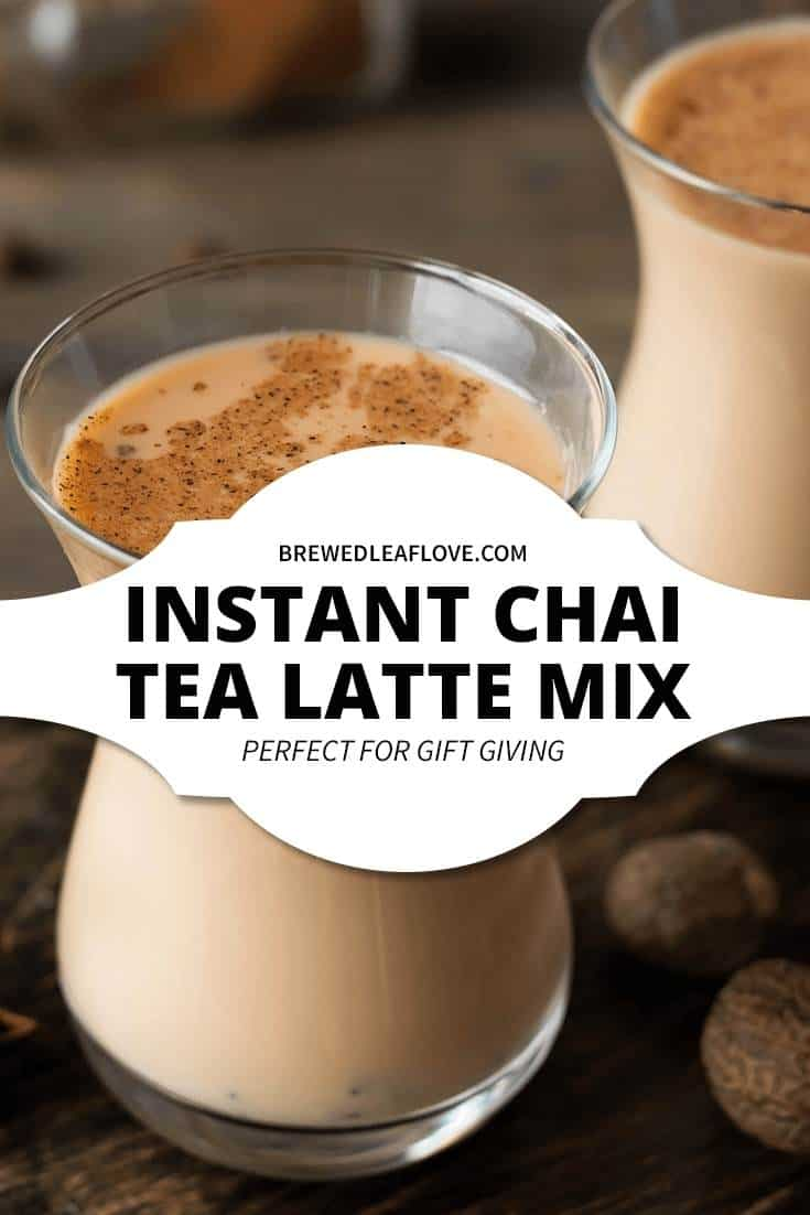 chai tea latte mix with hot water in a glass cup.