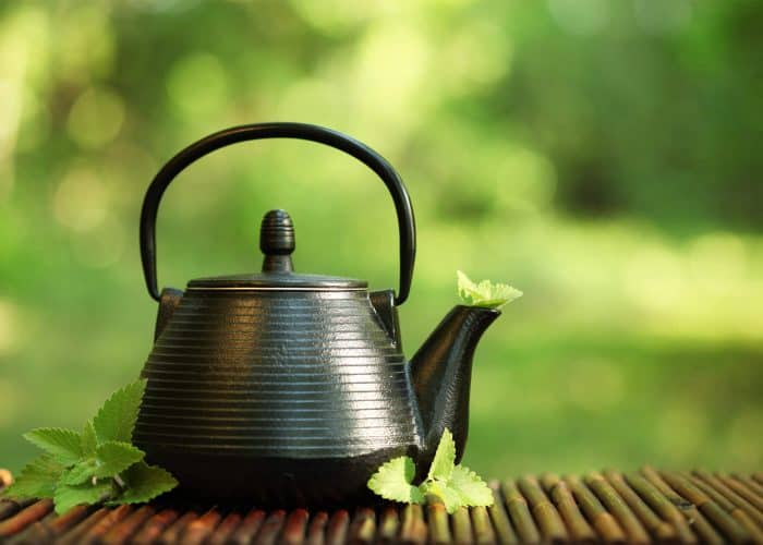 best teapot on a background of green
