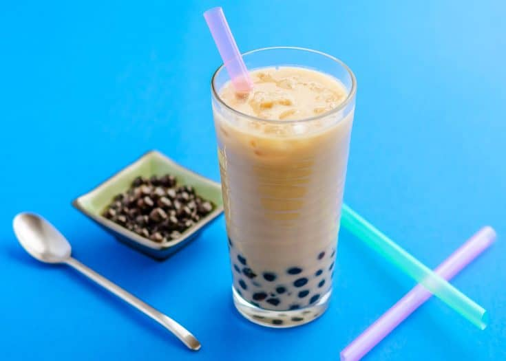 Jasmine Milk Tea with Honey Boba