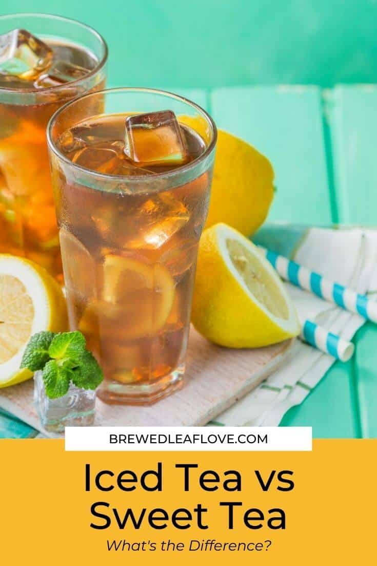Sweet tea and iced tea with lemons