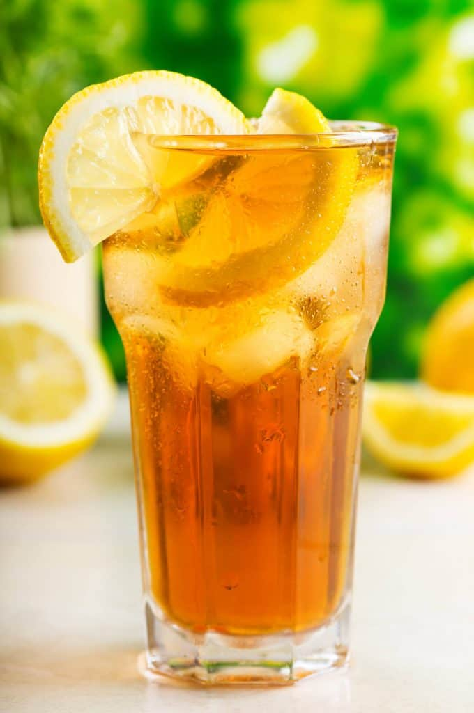 Glass of iced tea or sweet tea