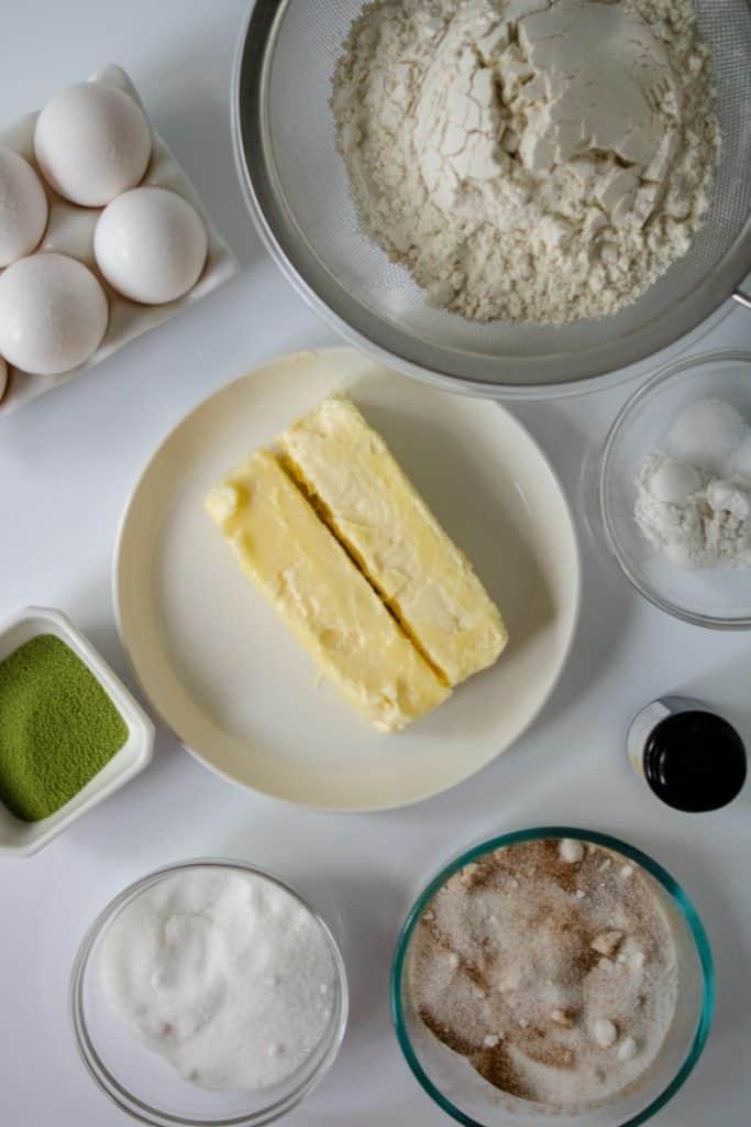 matcha snickerdoodle cookie ingredients