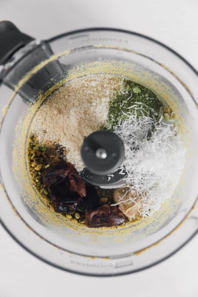 matcha energy balls recipe processing
