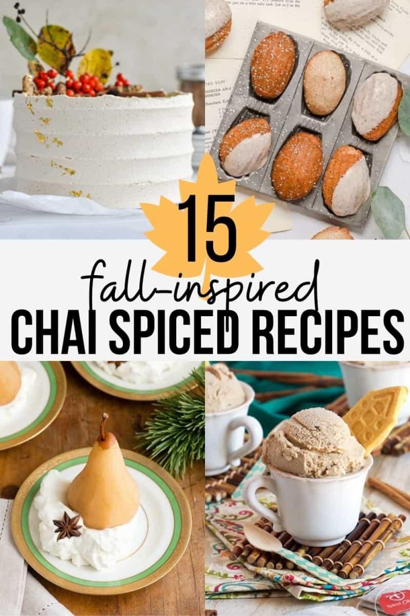 chai spiced desserts