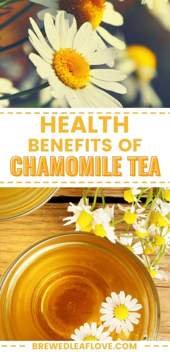 health benefits of chamomile tea graphic
