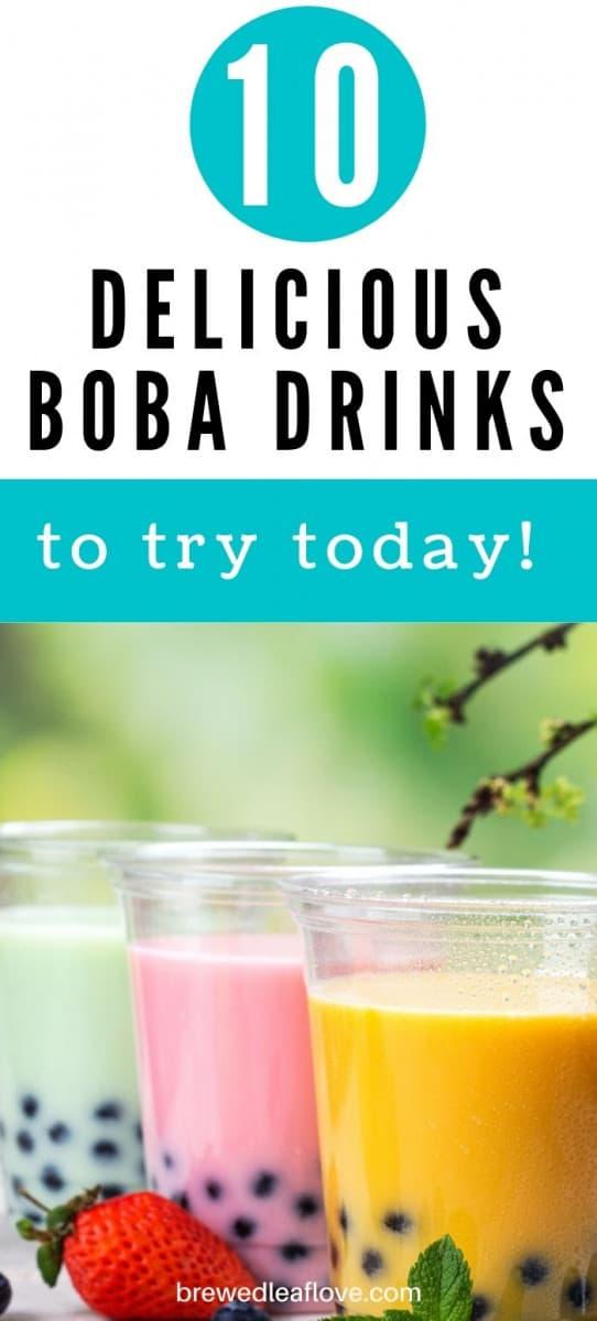 popular bubble tea flavors graphic