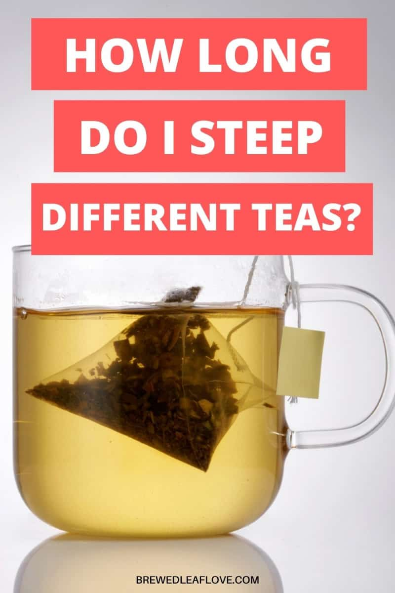steeping times for different teas graphic
