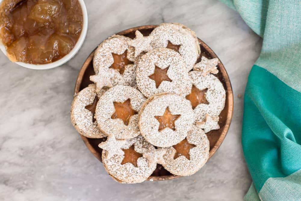 Earl Grey Linzer cookies for tea party food