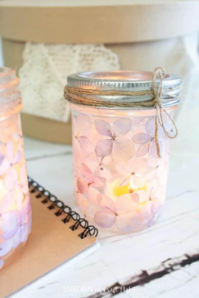 tea party decorations mason jar luminary