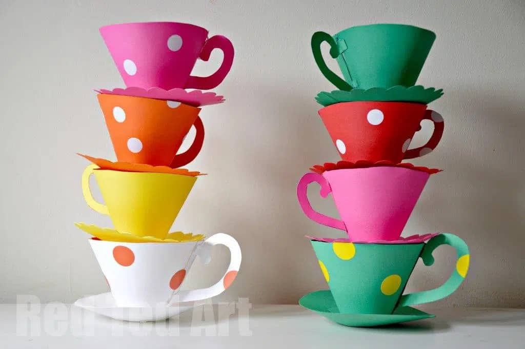 paper teacup printable
