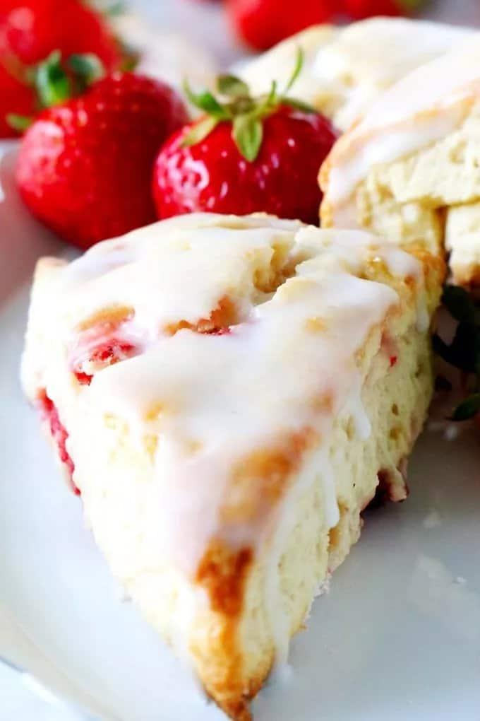 strawberry scones tea party dessert