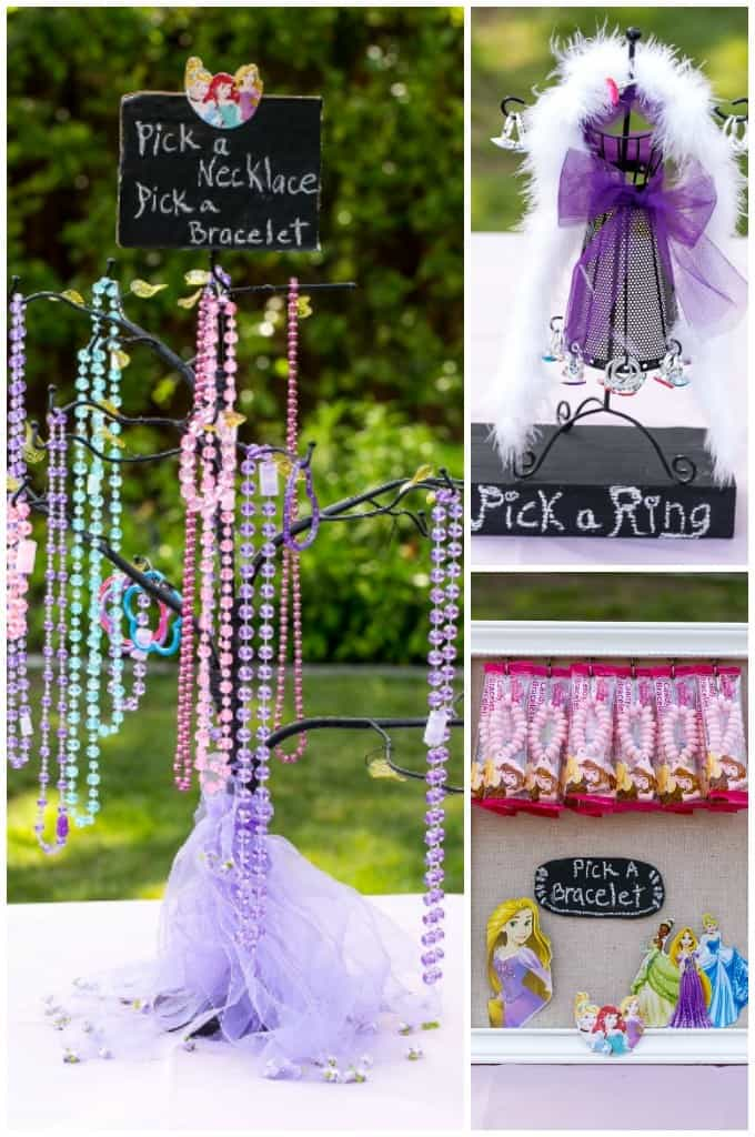 tea party for kids jewelry station