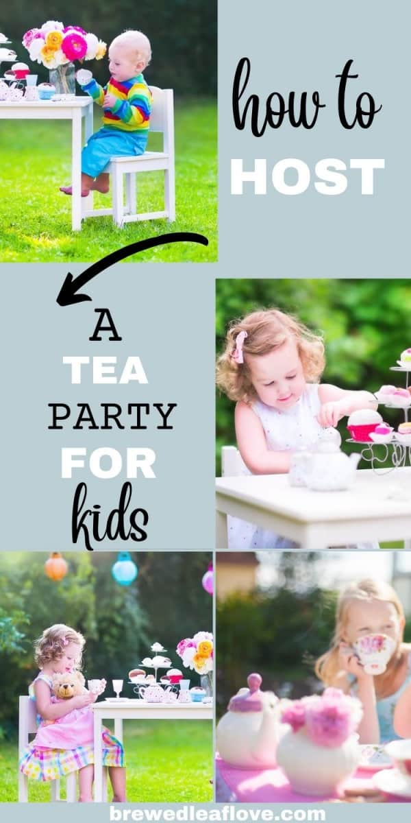 how to host a tea party for kids graphic