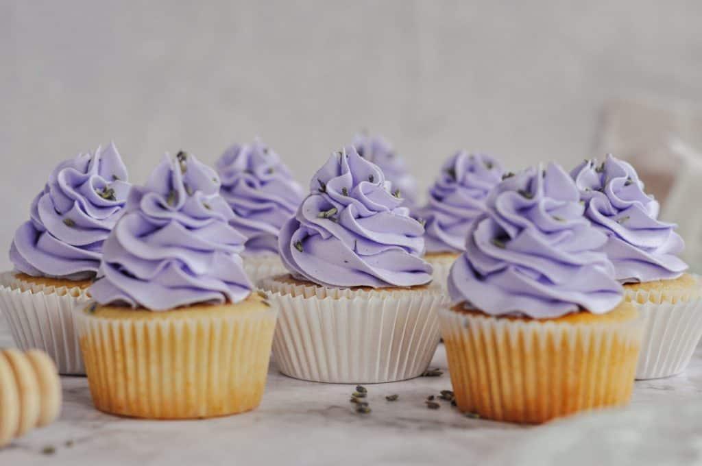 honey lavender cupcakes tea table