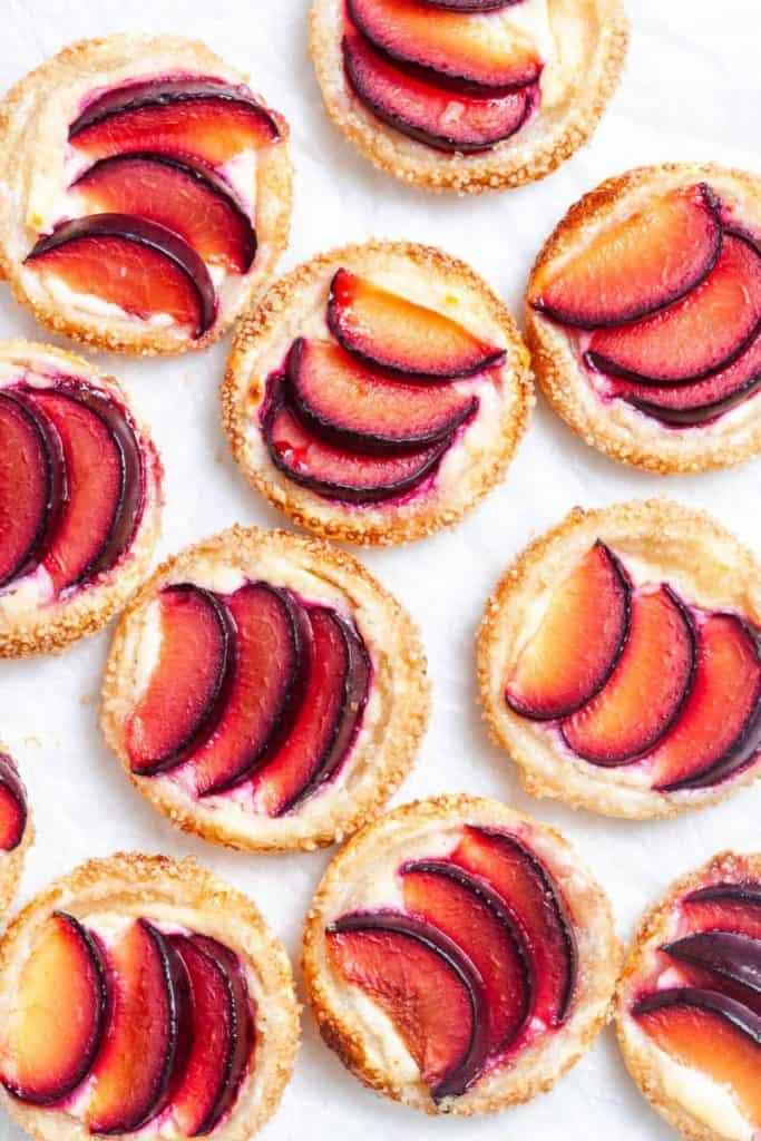 plum tartlets tea party dessert