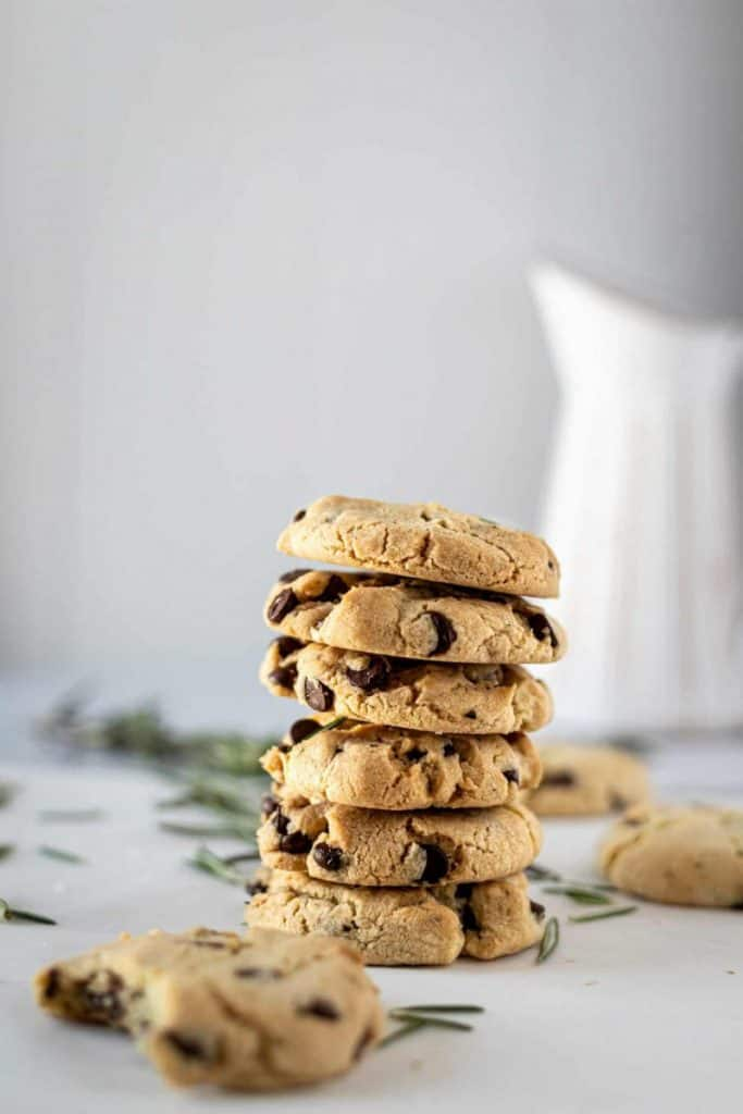 rosemary chocolate chip cookies tea party
