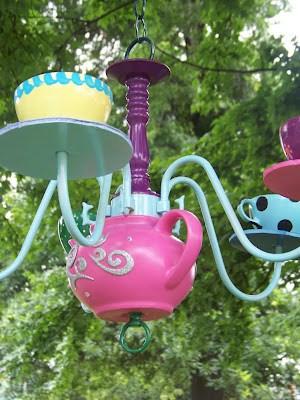 tea pot chandelier