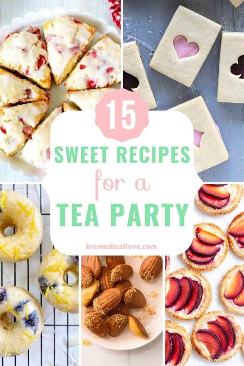 sweet tea parties desserts recipes graphic
