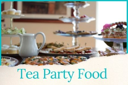 tea party food ideas graphic