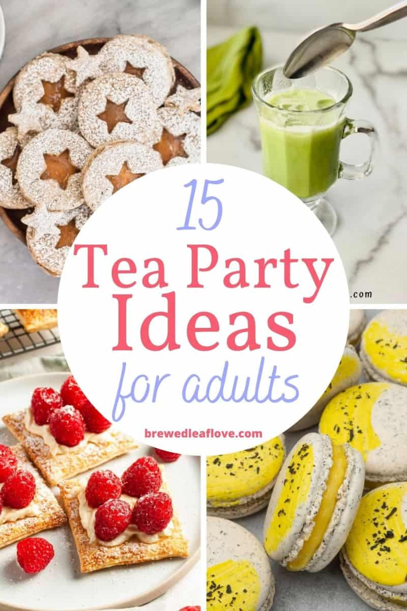 tea party ideas for adults graphic