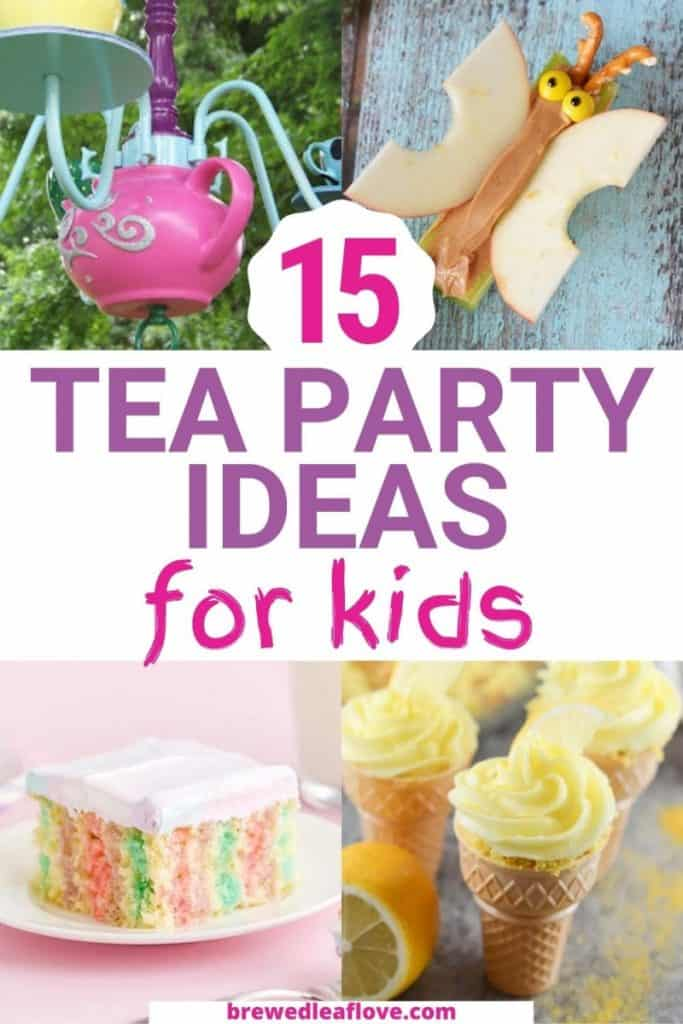 tea party ideas for kids graphic