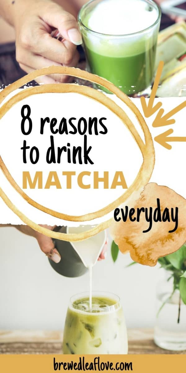 why drink matcha everyday graphic