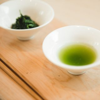 gyokuro tea in white cup