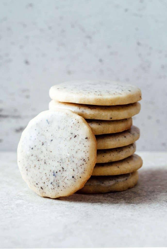 lavender sugar cookies tea party food