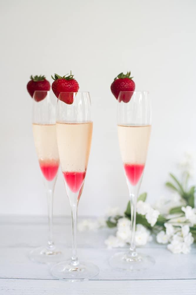 tea mimosas for bridal shower