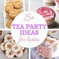 ideas for ladies tea party graphic