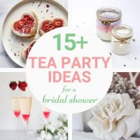ideas wedding shower tea party