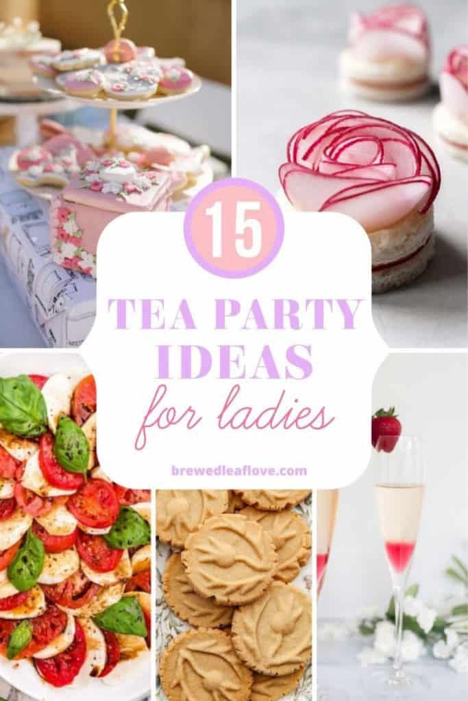ladies tea party ideas graphic