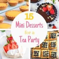 mini desserts tea party