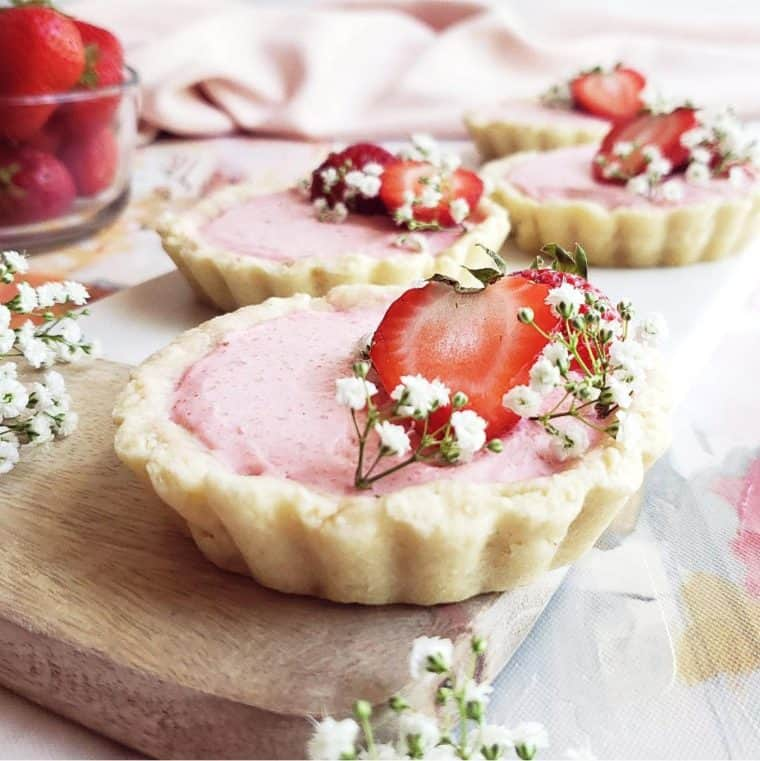 strawberry tartlets tea party food