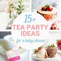 tea party ideas for baby shower